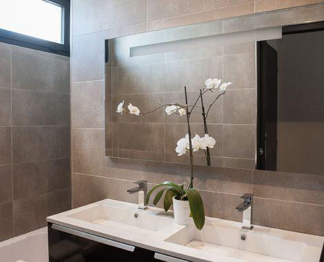 Double vasque salle de bain villa perle de thau